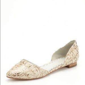 Alice + Olivia Hillary Croc Flats Size 8.5